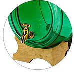 Скляна бочка 2 л із краном на дерев'яній підставці, фото 3
