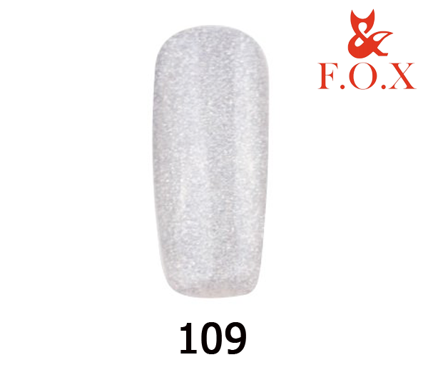 Гель-лак FOX Pigment № 109 (голографические серебряные блёстки), 6 мл