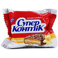Печенье Супер-Контик с ванилью в шоколадно-молочной глазури 50г 10159829