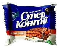 Печенье Супер Контик Сендвич в шоколадной глазури 50г 1036705