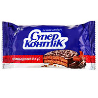 Печенье Печенье-сендвич Супер-Контик в шоколаде 100г 1051450