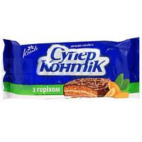 Печенье Супер-Контик с орехом в глазури 100г 10128129