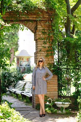 """Приталенное платье-рубашка в клетку """"Desi"""" с длинным рукавом , фото 2"""
