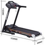 Електрична бігова доріжка 15% 19км / год 130 кг PAS 42, фото 6