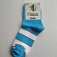 Шкарпетки жіночі блакитні з принтом розмір 36-40