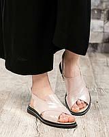 Стильные сандалииженские цвета пудры, фото 1
