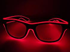 Светящиеся светодиодные неоновые очки красные
