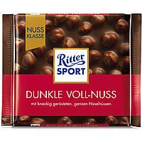 Шоколад темный Ritter Sport с целым лесным орехам 100г 10549894