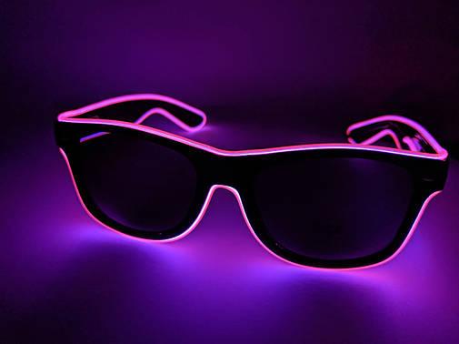 Неоновые очки для вечеринок purple, фото 2