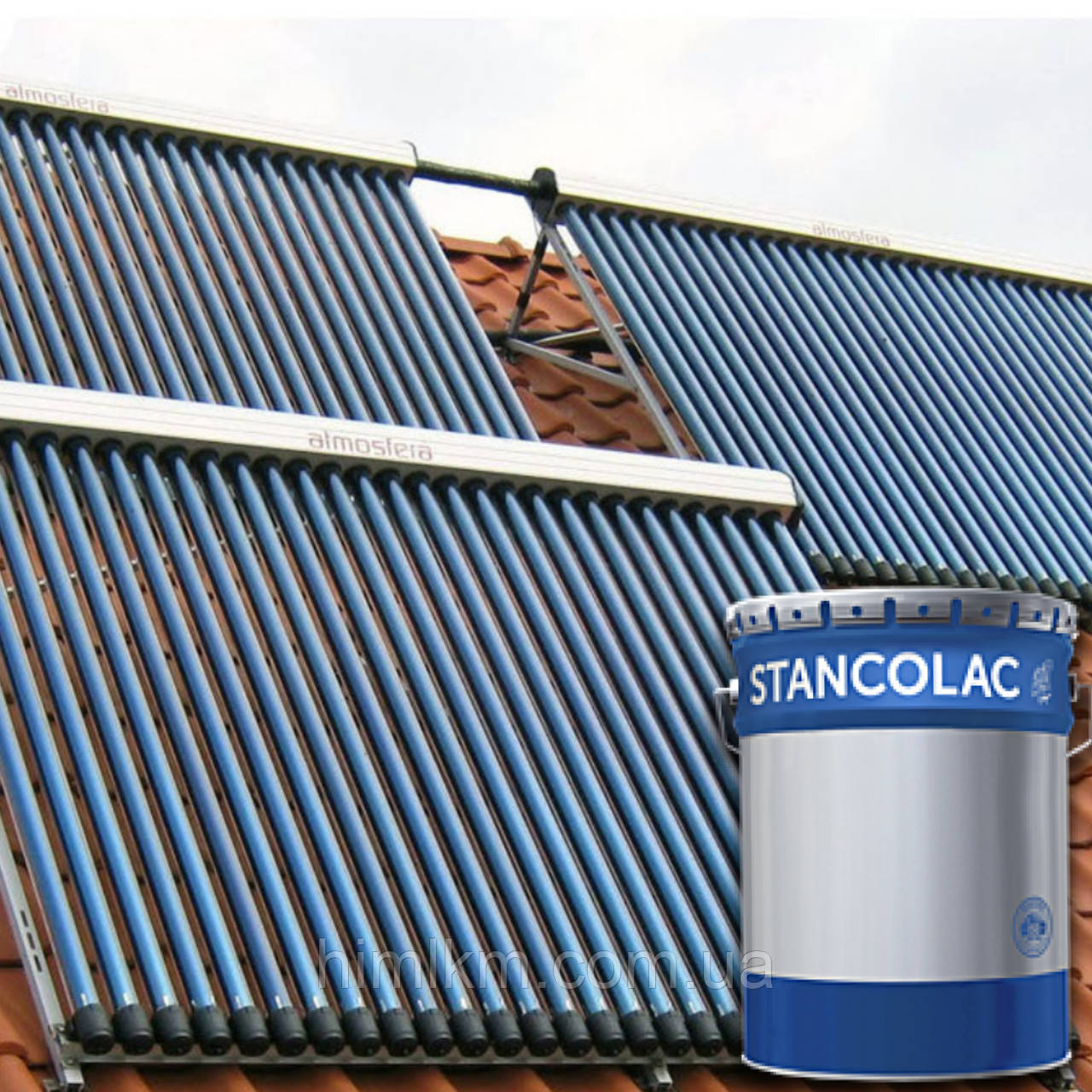 Краска для солнечных батарей, коллекторов, панелей Илиолак Станколак