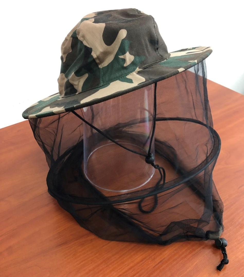 Шляпа с сеткой от комаров (100% хлопок)