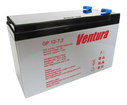 Аккумулятор AGM - 7,2 Ач, 12В гелевый Ventura gp12-7,2