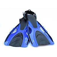 Ласты для плавания, дайвинга, снорклинга YF88 S/M BLUE (37-41). Высокое качество!