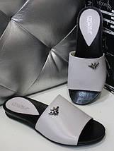 Женские кожаные шлепанцы на плоской подошве 36-40р, фото 2