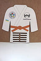 """Медальница """"Кимоно дзюдо"""". Держатель для медалей. Холдер для медалей из фанеры, фото 1"""