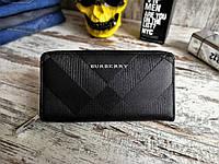 Мужской кошелек - портмоне Burberry, черного цвета. ТОП КАЧЕСТВО!!! Реплика
