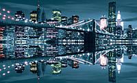 Фотообои виниловые город 416x254 см Бруклинский мост сияет (3022WVZXXXL)