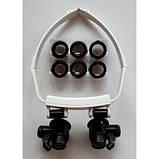 Бинокуляр очки бинокулярные со светодиодной подсветкой TH-9202 Лупа налобная, фото 4