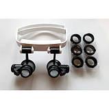 Бинокуляр очки бинокулярные со светодиодной подсветкой TH-9202 Лупа налобная, фото 3
