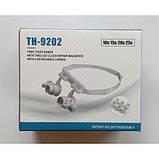 Бинокуляр очки бинокулярные со светодиодной подсветкой TH-9202 Лупа налобная, фото 5