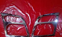 Хром накладки на фары Ford Connect, Форд Коннект