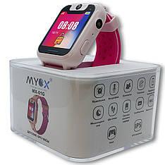 Детские Gps часы Myox МХ-01G розовые с камерой и фонариком - 141027