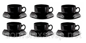 Luminarc Quadrato Black Сервиз чайный 12 предметов (E8848)