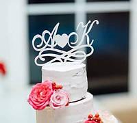 Свадебный топпер с буквами!!! Белый., фото 1