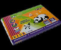 Пластилин 18 цветов  360г +стек  KIDS Line ZiBi  ZB.6212, фото 1