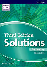 Solutions Third 3rd Edition Elementary Student's Book