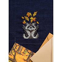 Набор для вышивания крестиком на водорастворимой канве AHO-003 Енотик