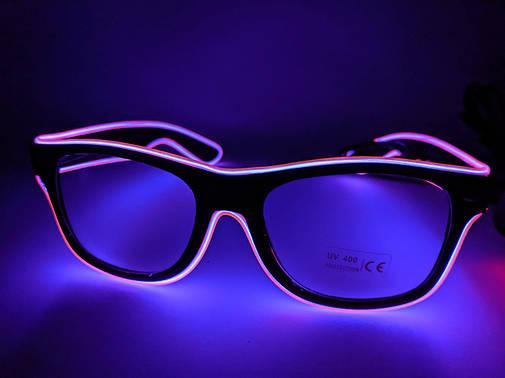 Неоновые очки фиолетовые, фото 2