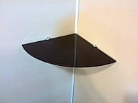 Полка стеклянная угловая 5 мм коричневая 20 х 20 см, фото 1