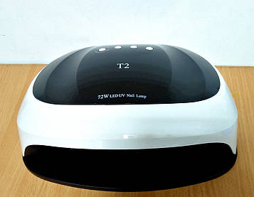 Лампа T2 для двух рук UV/LED 72W для сушки геля