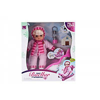 Кукла-пупс с санками, фонарь,10099