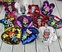 Детские резинки для волос с пайетками LOL микс модели и цвета 24 шт/уп., фото 2