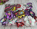 Детские резинки для волос с пайетками LOL микс модели и цвета 24 шт/уп., фото 3