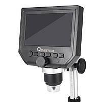 Цифровий мікроскоп з екраном Mustool G600 1-600X 3.6MP LCD HD дисплей 4.3 дюйма. Світлодіодна підсвітка, фото 1