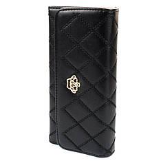 Женский клатч с короной стеганый Crown черный Crown_b - 140126