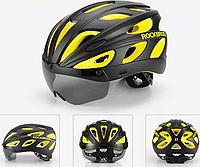 Велошлем фирменный Rockbros  57-62 см L / XL с поляризованными очками