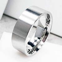 Обручальное кольцо из медицинской стали Американка матовое 8 мм 138876