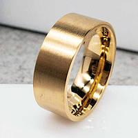 Обручальное кольцо из медицинской стали 8 мм под золото 137446