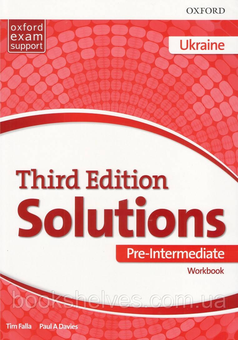 Solutions Third 3rd Edition Pre-Intermediate WorkBook (UA)
