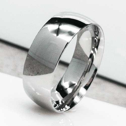 Обручальное кольцо из медицинской стали классика 8 мм глянцевое 130643