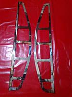 Хром накладки на стопы Fiat Doblo, Фиат Добло 2000-2006 г.в.