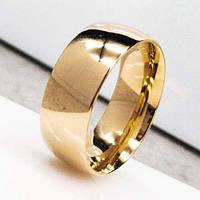Обручальное кольцо из медицинской стали классика 8 мм под золото 129807