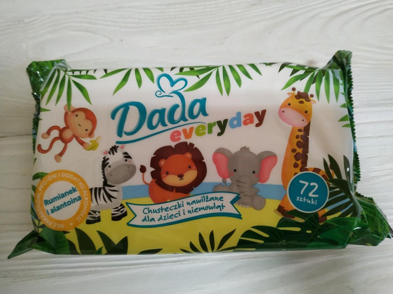Влажные салфетки Dada Everyday детские, 72 шт, фото 1