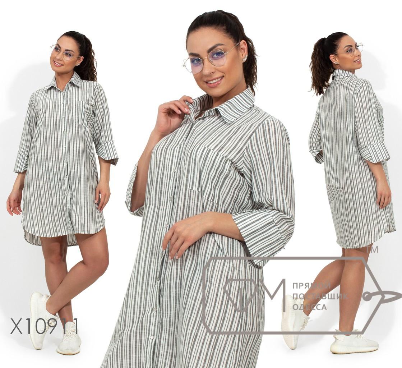 Платье-рубашка в полоску, оливковый