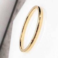 Обручальное кольцо из медицинской стали 2 мм под золото округлое 101836
