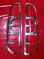 Хром накладки на стопы Fiat Doblo, Фиат Добло 2006-2010 г.в.